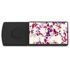 Splatter White USB Flash Drive Rectangular (1 GB)