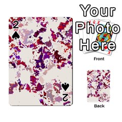 Splatter White Playing Cards 54 Designs