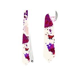 Splatter White Neckties (one Side)
