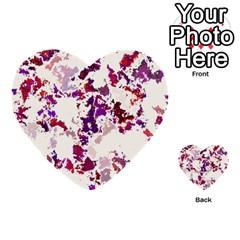 Splatter White Multi Purpose Cards (heart)