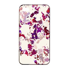 Splatter White Apple Iphone 4/4s Seamless Case (black)
