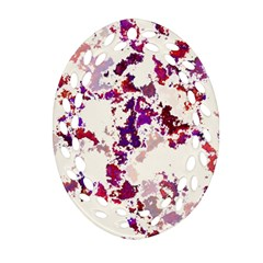 Splatter White Ornament (Oval Filigree)