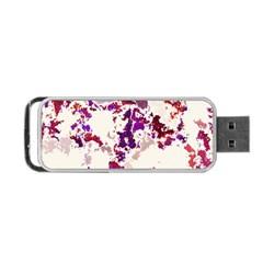 Splatter White Portable USB Flash (One Side)
