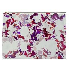 Splatter White Cosmetic Bag (XXL)