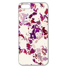 Splatter White Apple Seamless iPhone 5 Case (Clear)