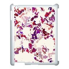 Splatter White Apple iPad 3/4 Case (White)