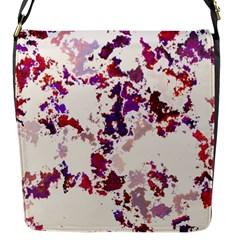 Splatter White Flap Messenger Bag (S)
