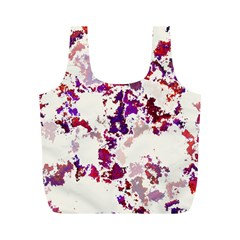 Splatter White Full Print Recycle Bags (M)