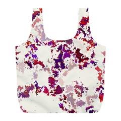 Splatter White Full Print Recycle Bags (L)