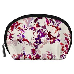 Splatter White Accessory Pouches (Large)