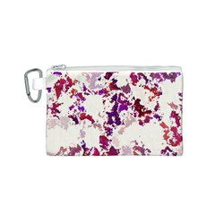 Splatter White Canvas Cosmetic Bag (S)
