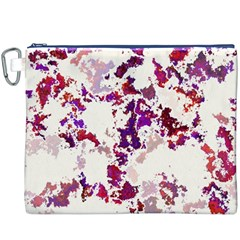Splatter White Canvas Cosmetic Bag (XXXL)