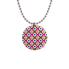 Honeycomb in rhombus pattern 1  Button Necklace