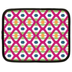 Honeycomb in rhombus pattern Netbook Case (XXL)