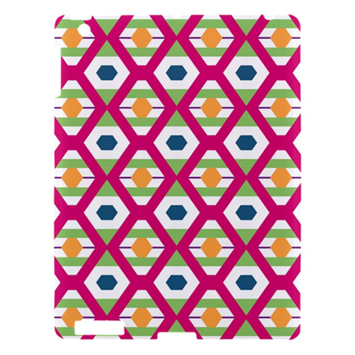Honeycomb in rhombus pattern Apple iPad 3/4 Hardshell Case