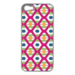 Honeycomb in rhombus pattern Apple iPhone 5 Case (Silver)