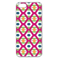 Honeycomb in rhombus pattern Apple Seamless iPhone 5 Case (Clear)