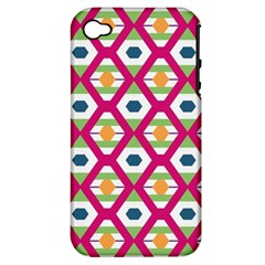 Honeycomb in rhombus pattern Apple iPhone 4/4S Hardshell Case (PC+Silicone)