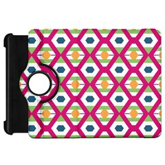 Honeycomb in rhombus pattern Kindle Fire HD Flip 360 Case