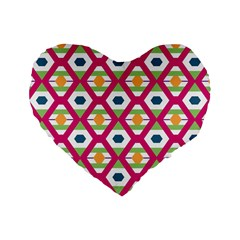 Honeycomb in rhombus pattern Standard 16  Premium Heart Shape Cushion