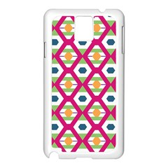 Honeycomb in rhombus pattern Samsung Galaxy Note 3 N9005 Case (White)