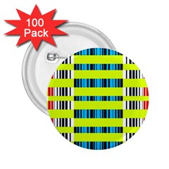 Rectangles and vertical stripes pattern 2.25  Button (100 pack)