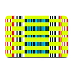 Rectangles and vertical stripes pattern Small Doormat
