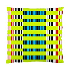 Rectangles and vertical stripes pattern Standard Cushion Case (Two Sides)