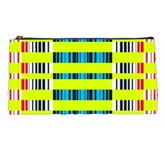Rectangles and vertical stripes pattern Pencil Case