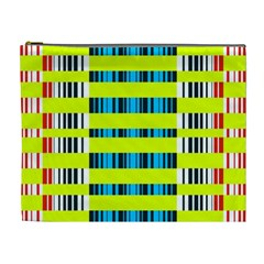 Rectangles and vertical stripes pattern Cosmetic Bag (XL)