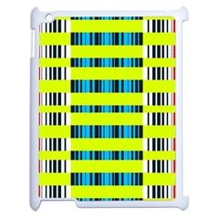 Rectangles and vertical stripes pattern Apple iPad 2 Case (White)