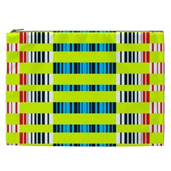 Rectangles and vertical stripes pattern Cosmetic Bag (XXL)