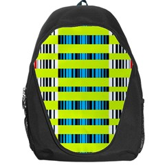 Rectangles and vertical stripes pattern Backpack Bag