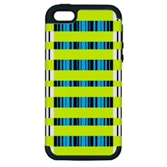 Rectangles and vertical stripes pattern Apple iPhone 5 Hardshell Case (PC+Silicone)