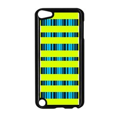 Rectangles and vertical stripes pattern Apple iPod Touch 5 Case (Black)