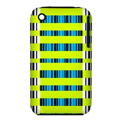Rectangles and vertical stripes pattern Apple iPhone 3G/3GS Hardshell Case (PC+Silicone)