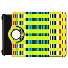 Rectangles and vertical stripes pattern Kindle Fire HD Flip 360 Case