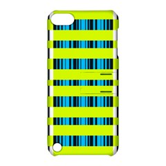 Rectangles and vertical stripes pattern Apple iPod Touch 5 Hardshell Case with Stand