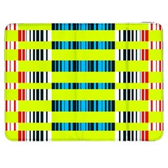 Rectangles and vertical stripes pattern Samsung Galaxy Tab 7  P1000 Flip Case