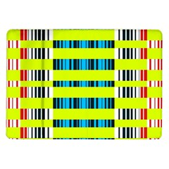 Rectangles and vertical stripes pattern Samsung Galaxy Tab 10.1  P7500 Flip Case