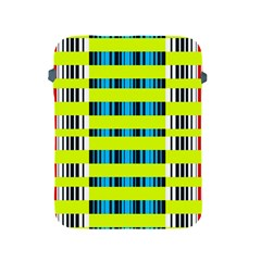 Rectangles and vertical stripes pattern Apple iPad 2/3/4 Protective Soft Case
