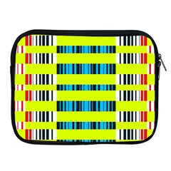 Rectangles and vertical stripes pattern Apple iPad 2/3/4 Zipper Case