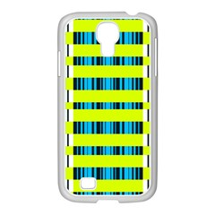 Rectangles and vertical stripes pattern Samsung GALAXY S4 I9500/ I9505 Case (White)