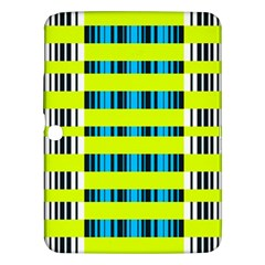 Rectangles and vertical stripes pattern Samsung Galaxy Tab 3 (10.1 ) P5200 Hardshell Case