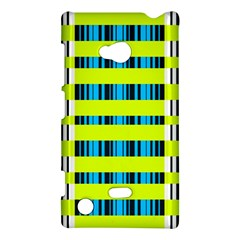 Rectangles and vertical stripes pattern Nokia Lumia 720 Hardshell Case