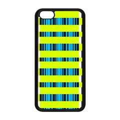 Rectangles and vertical stripes pattern Apple iPhone 5C Seamless Case (Black)