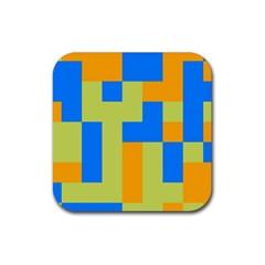 Tetris shapes Rubber Coaster (Square)