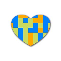 Tetris shapes Rubber Coaster (Heart)