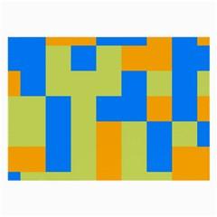 Tetris shapes Large Glasses Cloth (2 Sides)