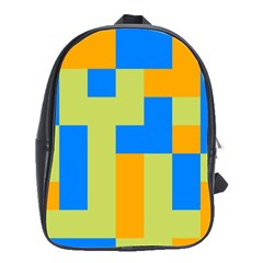 Tetris shapes School Bag (Large)